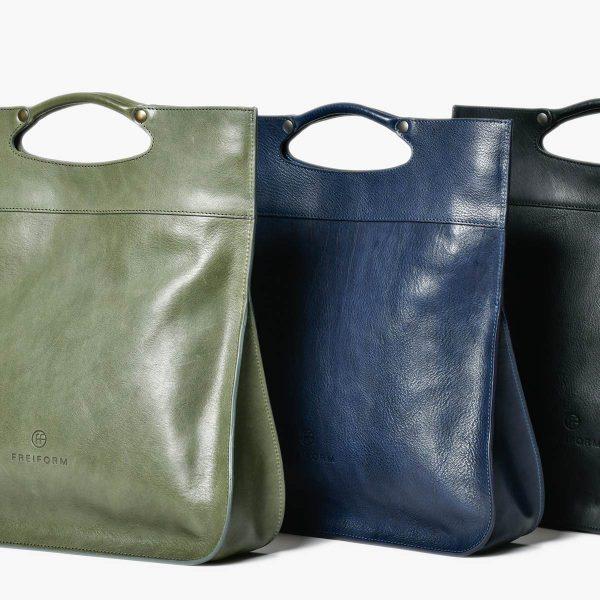 FIFTY Tasche mit puristischem, zeitlosem Design. Die Tasche ist sowohl Handtasche, Umhängetasche und crossbody Tasche. Handgefertigt aus pflanzlich gegerbtem Rindsleder.